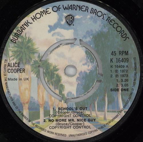 "Alice Cooper School's Out 7"" vinyl single (7 inch record) UK COO07SC751761"
