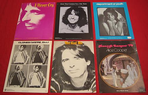 Alice Cooper Set Of 6 Sheet Music Booklets Us Sheet Music 401836