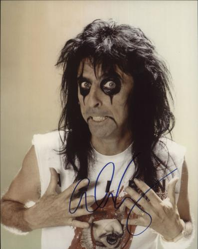 Alice Cooper Signed Photograph photograph UK COOPHSI717709