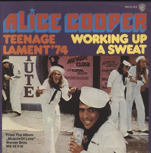 "Alice Cooper Teenage Lament '74 7"" vinyl single (7 inch record) German COO07TE60643"