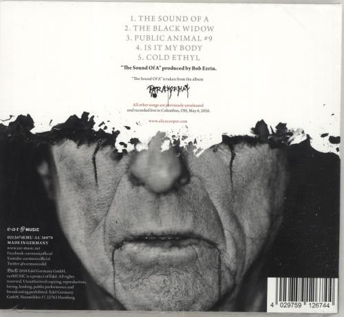 """Alice Cooper The Sound Of A - Sealed CD single (CD5 / 5"""") UK COOC5TH691789"""