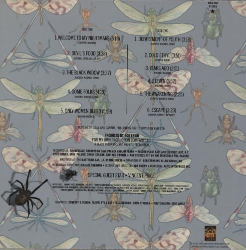 Alice Cooper Welcome To My Nightmare - Laminated Sleeve vinyl LP album (LP record) UK COOLPWE186391