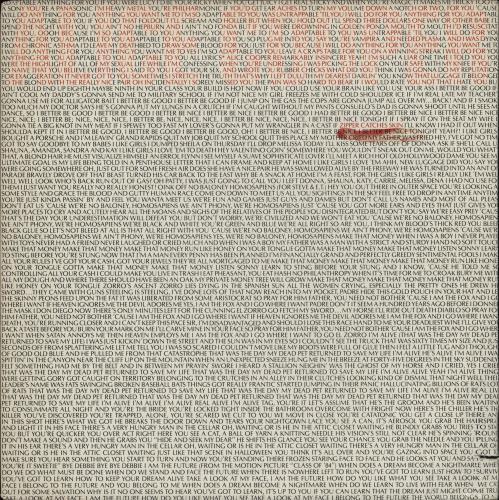 Alice Cooper Zipper Catches Skin vinyl LP album (LP record) US COOLPZI751508