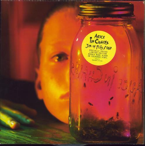 Alice In Chains Jar Of Flies / Sap - Blue & Yellow Vinyl 2-LP vinyl record set (Double Album) UK AIC2LJA29530