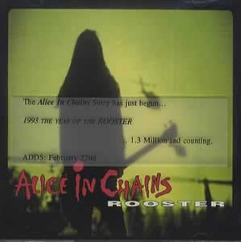 "Alice In Chains Rooster CD single (CD5 / 5"") US AICC5RO15933"