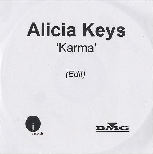Alicia Keys Karma CD-R acetate UK AKYCRKA496928