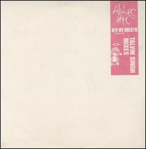 "Alisha's Attic Air We Beathe - Talvin Singh Remixes 10"" vinyl single (10"" record) UK AAT10AI89805"