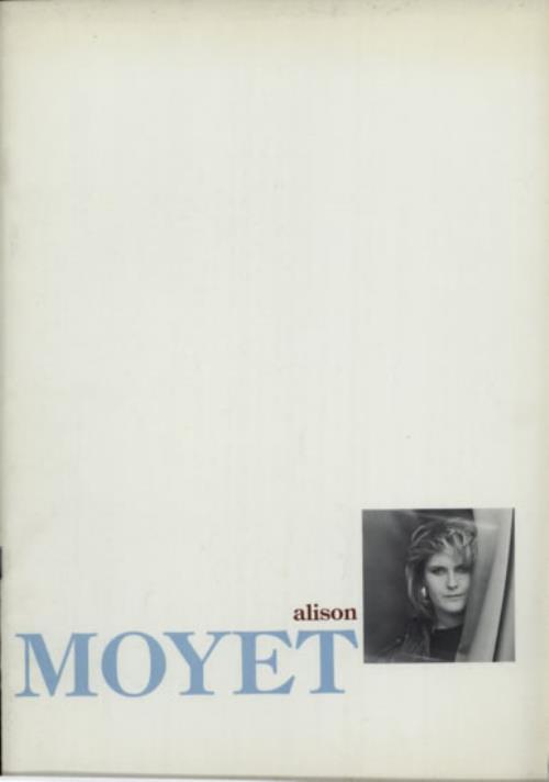 Alison Moyet 1987 Tour Programme tour programme UK MOYTRTO589946
