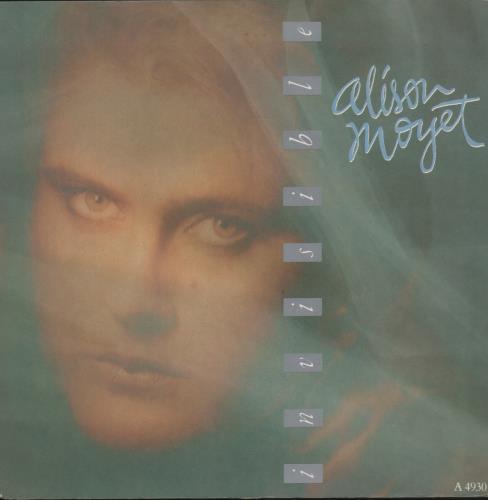 "Alison Moyet Invisible 7"" vinyl single (7 inch record) UK MOY07IN110075"