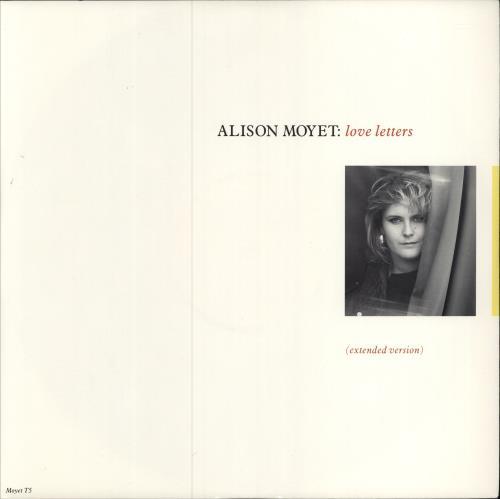 "Alison Moyet Love Letters 12"" vinyl single (12 inch record / Maxi-single) UK MOY12LO56553"