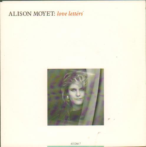 "Alison Moyet Love Letters 7"" vinyl single (7 inch record) UK MOY07LO660826"