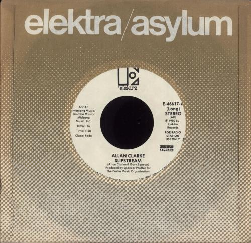"Allan Clarke Slipstream 7"" vinyl single (7 inch record) US ACL07SL749135"