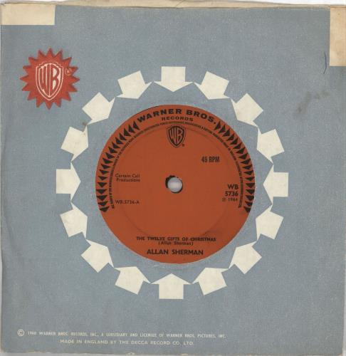 "Allan Sherman The Twelve Gifts Of Christmas 7"" vinyl single (7 inch record) UK AJ707TH714059"