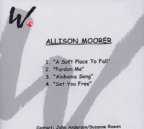 Allison Moorer Alabama Song - Sampler CD-R acetate US RRLCRAL334732
