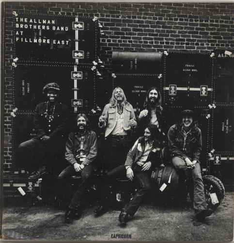 Allman Brothers Band At Fillmore East - 1st - VG 2-LP vinyl record set (Double Album) US ABR2LAT699529
