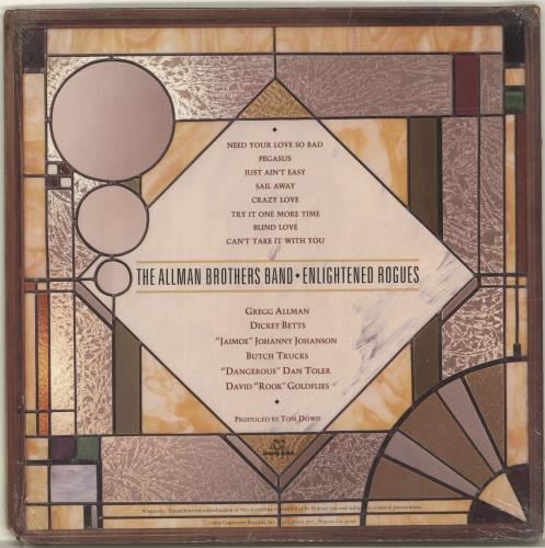 Allman Brothers Band Enlightened Rogues vinyl LP album (LP record) US ABRLPEN699527