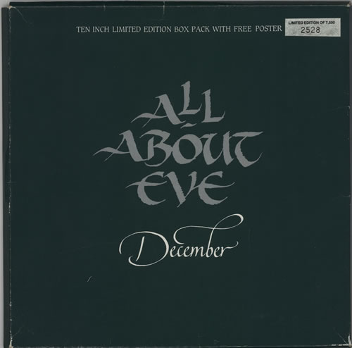 "All About Eve December 10"" vinyl single (10"" record) UK AAE10DE04751"
