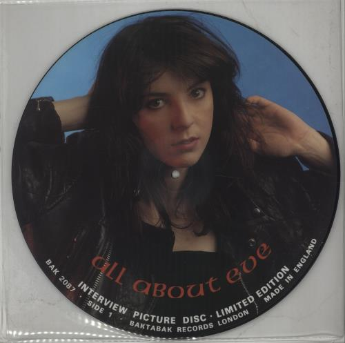 All About Eve Interview Picture Disc picture disc LP (vinyl picture disc album) UK AAEPDIN671962