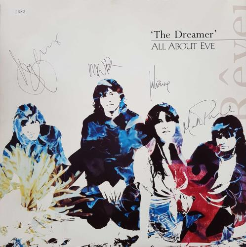 "All About Eve The Dreamer - Autographed 12"" vinyl single (12 inch record / Maxi-single) UK AAE12TH04768"
