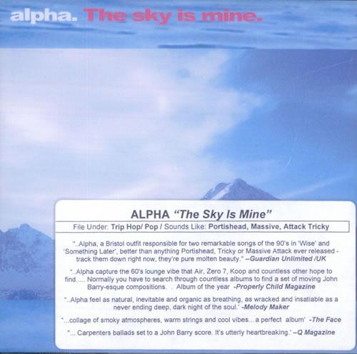 Alpha The Sky Is Mine 2 CD album set (Double CD) US LPH2CTH535381
