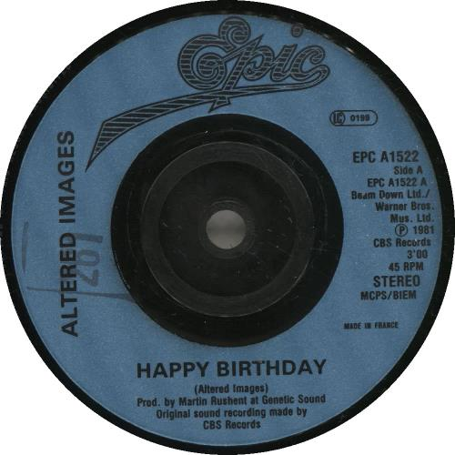 Altered Images Happy Birthday French 7