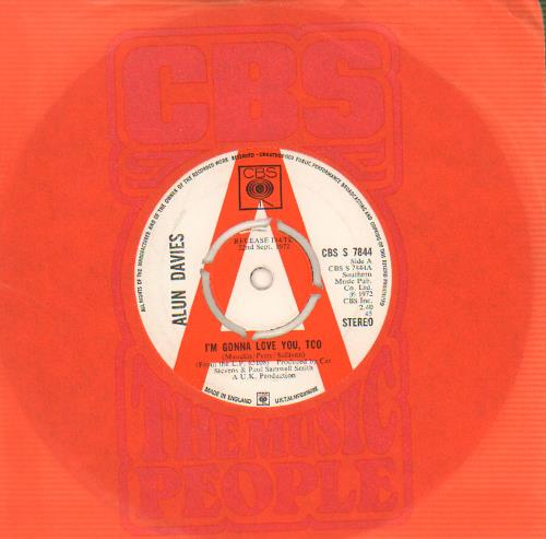 "Alun Davies I'm Gonna Love You, Too 7"" vinyl single (7 inch record) UK DV007IM643108"