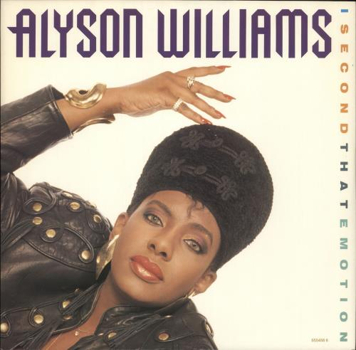 """Alyson Williams I Second That Emotion 12"""" vinyl single (12 inch record / Maxi-single) UK AYW12IS718623"""