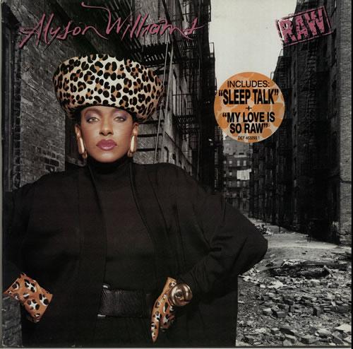 Alyson Williams Raw - stickered p/s vinyl LP album (LP record) UK AYWLPRA633876