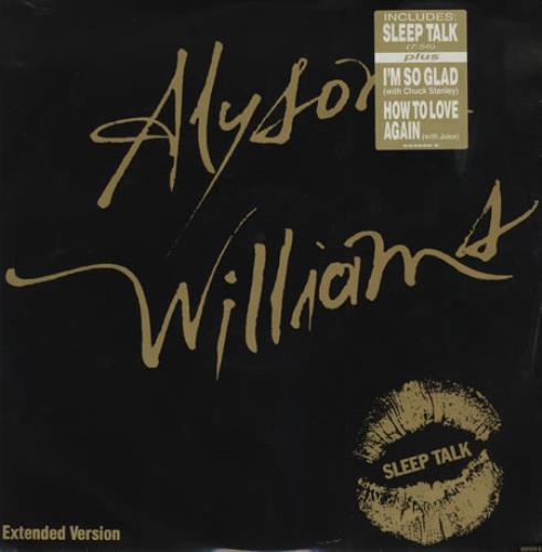 "Alyson Williams Sleep Talk 12"" vinyl single (12 inch record / Maxi-single) UK AYW12SL186506"