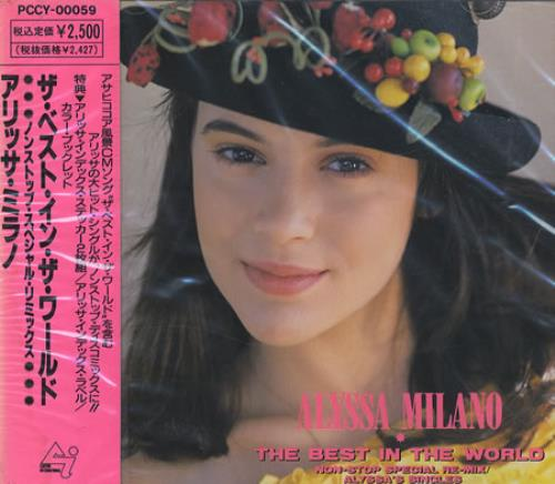 Alyssa Milano The Best In The World + obi & stickers CD album (CDLP) Japanese ASOCDTH166344