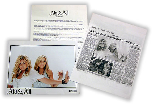 Aly & AJ Insomniatic media press pack US AJLPPIN418103
