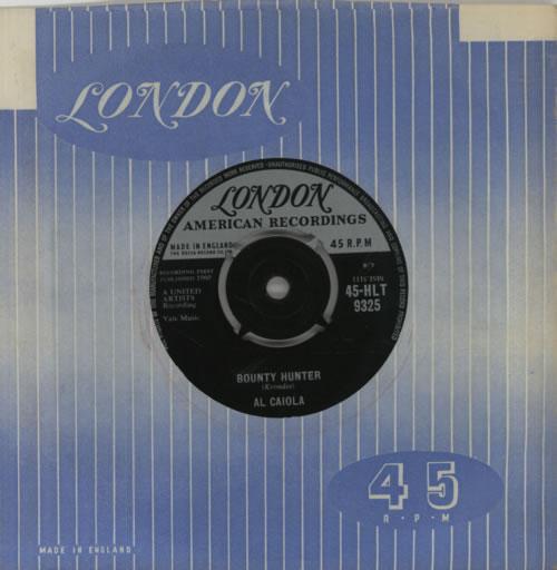 "Al Caiola Bonanza 7"" vinyl single (7 inch record) UK AJ407BO605772"