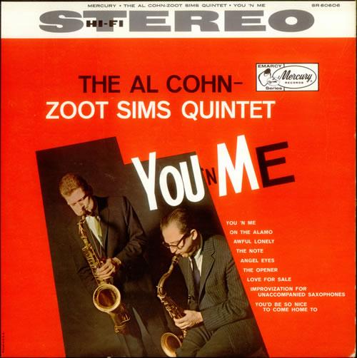 Al Cohn & Zoot Sims You 'N Me vinyl LP album (LP record) US C=SLPYO533046