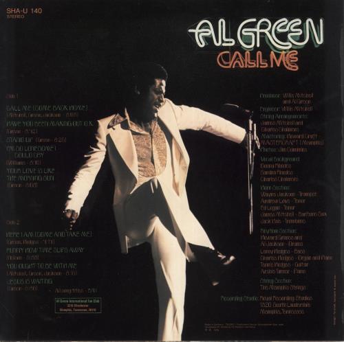 Al Green Call Me vinyl LP album (LP record) UK AEELPCA732790