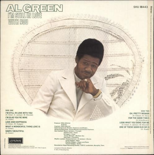 Al Green I'm Still In Love With You - EX vinyl LP album (LP record) UK AEELPIM708838