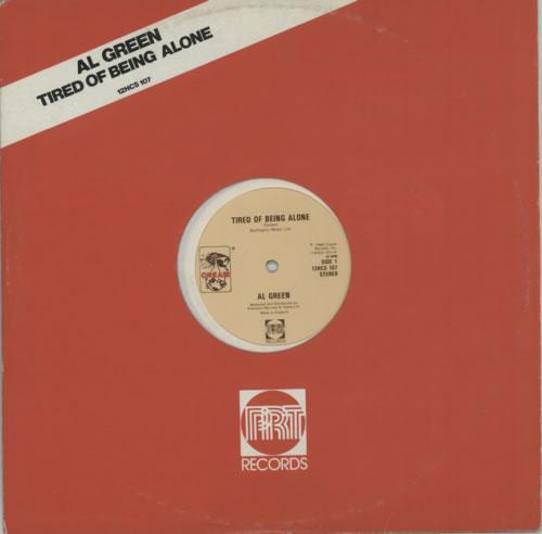 "Al Green Tired Of Being Alone 12"" vinyl single (12 inch record / Maxi-single) UK AEE12TI615731"