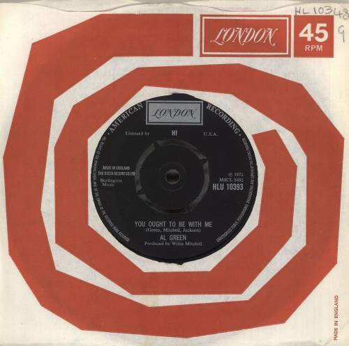 """Al Green You Ought To Be With Me 7"""" vinyl single (7 inch record) UK AEE07YO740939"""