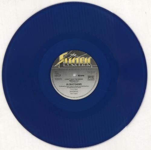 """Al Matthews I Can't Face The Music (Without You) - Blue Vinyl 12"""" vinyl single (12 inch record / Maxi-single) UK AWT12IC747616"""