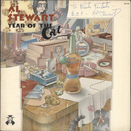 Al Stewart Year Of The Cat - Autographed vinyl LP album (LP record) US ALSLPYE717563