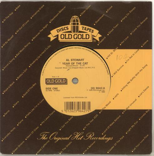 "Al Stewart Year Of The Cat 7"" vinyl single (7 inch record) UK ALS07YE713758"