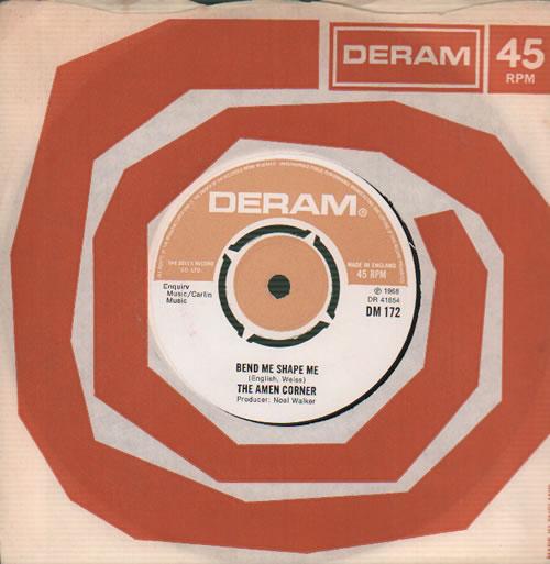 "Amen Corner Bend Me Shape Me - 2nd 7"" vinyl single (7 inch record) UK AMC07BE636410"