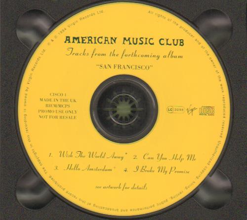 "American Music Club Tracks From The Forthcoming Album San Francisco CD single (CD5 / 5"") UK AMUC5TR32963"