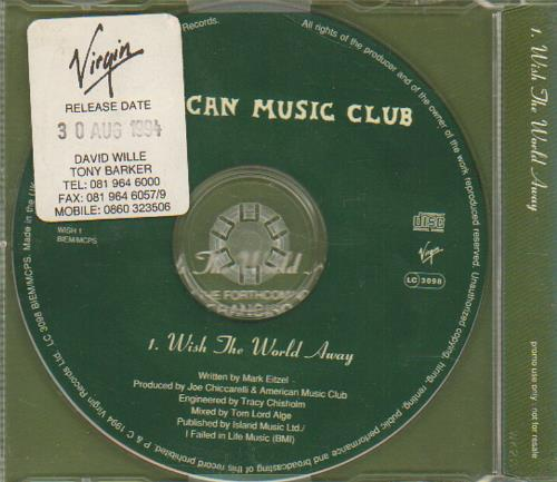 "American Music Club Wish The World Away CD single (CD5 / 5"") UK AMUC5WI33312"