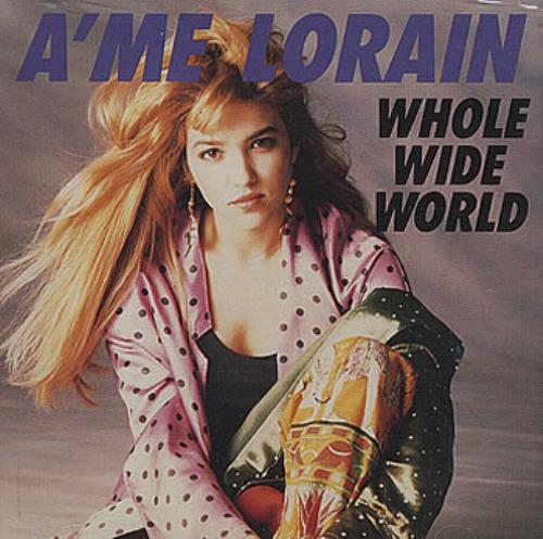 "A'Me Lorain Whole Wide World + Picture Sleeve CD single (CD5 / 5"") US AMEC5WH157212"