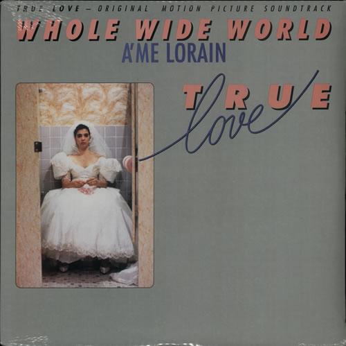 "A'Me Lorain Whole Wide World 12"" vinyl single (12 inch record / Maxi-single) US AME12WH25925"