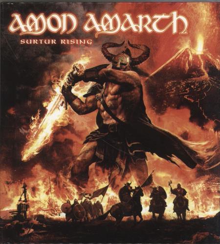 Amon Amarth Surtur Rising + Bonus DVD 2-disc CD/DVD set German A822DSU701398