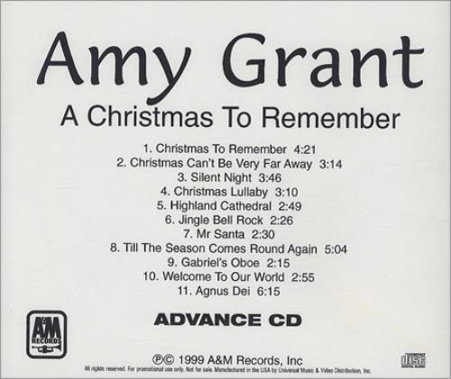 Amy Grant A Christmas To Remember CD-R acetate US GRACRAC146296