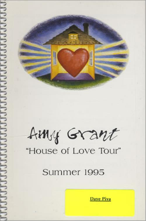 Amy Grant House Of Love Tour - Summer 1995 Itinerary US GRAITHO427386