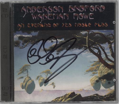 Anderson Bruford Wakeman Howe An Evening Of Yes Music Plus... - Autographed 2 CD album set (Double CD) UK ABW2CAN712201