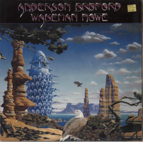 Anderson Bruford Wakeman Howe Anderson Bruford Wakeman Howe + Print vinyl LP album (LP record) German ABWLPAN401772